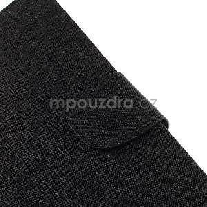 Černé peněženkové pouzdro Goospery na tablet Samsung Galaxy Tab 4 8.0 - 5