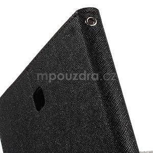 Černé/hnědé peněženkové pouzdro Goospery na tablet Samsung Galaxy Tab 4 8.0 - 5