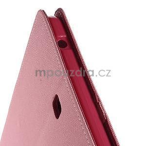 Růžové peněženkové pouzdro Goospery na tablet Samsung Galaxy Tab 4 8.0 - 5