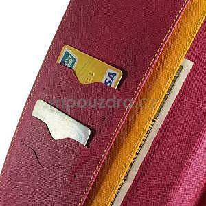 Žluté peněženkové pouzdro Goospery na tablet Samsung Galaxy Tab 4 8.0 - 5