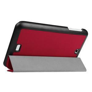 Trifold polohovatelné pouzdro na tablet Acer Iconia One 7 B1-770 - červené - 5