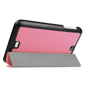 Trifold polohovatelné pouzdro na tablet Acer Iconia One 7 B1-770 - růžové - 5