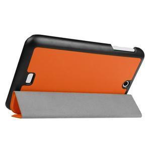 Trifold polohovatelné pouzdro na tablet Acer Iconia One 7 B1-770 - oranžové - 5