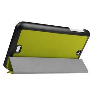 Trifold polohovatelné pouzdro na tablet Acer Iconia One 7 B1-770 - zelené - 5