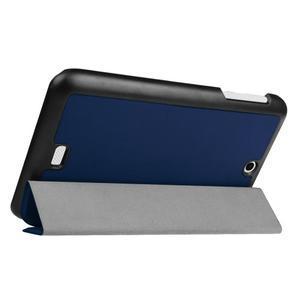 Trifold polohovatelné pouzdro na tablet Acer Iconia One 7 B1-770 - tmavěmodré - 5