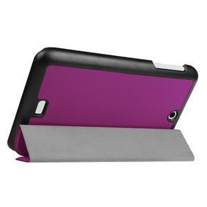 Trifold polohovatelné pouzdro na tablet Acer Iconia One 7 B1-770 - fialové - 5