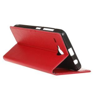 Gregory peněženkové pouzdro na Acer Liquid Z520 - červené - 5