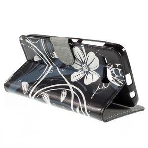 Nice koženkové pouzdro na mobil Acer Liquid Z520 - bílé květy - 5