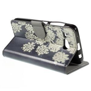 Nice koženkové pouzdro na mobil Acer Liquid Z520 - kvetoucí květy - 5