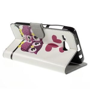 Nice koženkové pouzdro na mobil Acer Liquid Z520 - soví rodinky - 5