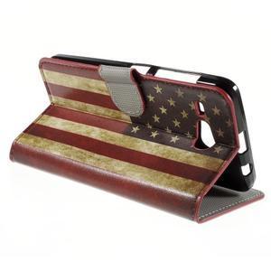 Nice koženkové pouzdro na mobil Acer Liquid Z520 - US vlajka - 5