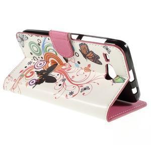 Nice koženkové pouzdro na mobil Acer Liquid Z520 - motýlci - 5