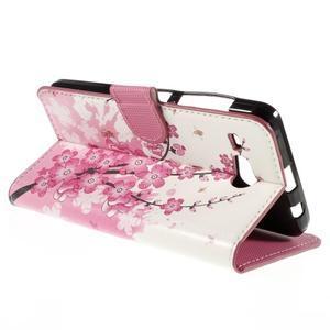 Nice koženkové pouzdro na mobil Acer Liquid Z520 - kvetoucí větvička - 5