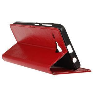 Stanley PU kožené pouzdro na Acer Liquid Z520 - červené - 5