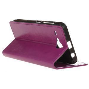 Stanley PU kožené pouzdro na Acer Liquid Z520 - fialové - 5