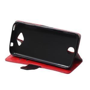 Lines PU kožené pouzdro na Acer Liquid Z530 - červené - 5