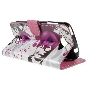 Valet peněženkové pouzdro na Acer Liquid Z530 - fialové květy - 5
