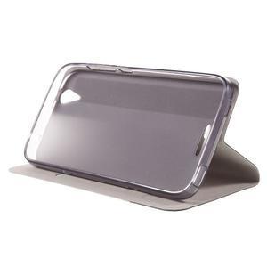 Klopové pouzdro na mobil Acer Liquid Z630 - šedé - 5