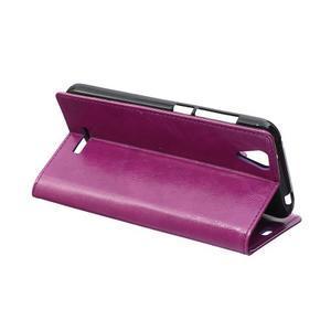 Leat PU kožené pouzdro na mobil Acer Liquid Z630 - fialové - 5