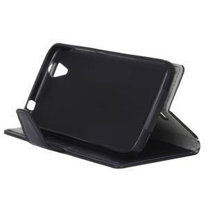 Leat PU kožené pouzdro na mobil Acer Liquid Z630 - černé - 5