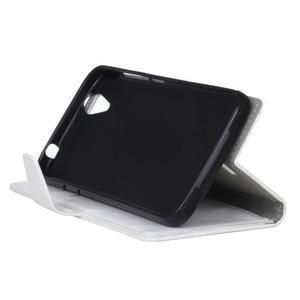 Leat PU kožené pouzdro na mobil Acer Liquid Z630 - bílé - 5
