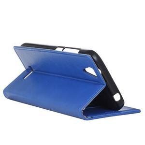 Leat PU kožené pouzdro na mobil Acer Liquid Z630 - modré - 5