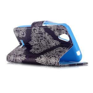 Peněženkové pouzdro na mobil Acer Liquid Z630 - retro květina - 5