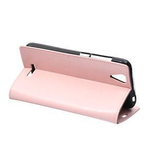 Leat PU kožené pouzdro na mobil Acer Liquid Z630 - růžové - 5