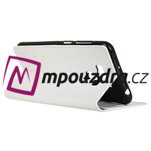 Wall knížkové pouzdro na mobil Asus Zenfone 3 Max ZC553KL - bílé - 5