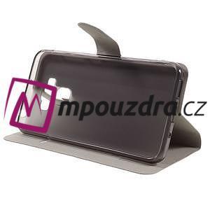 Horse PU kožené pouzdro na Asus Zenfone 3 Max ZC553KL - bílé - 5