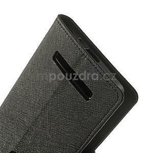 Černé PU kožené pouzdro Asus Zenfone 5 - 5