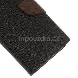 Černé/hnědé peněženkové pouzdro na Asus Zenfone 5 - 5