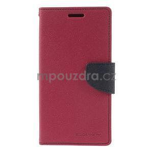 Rose/tmavě modré peněženkové pouzdro na Asus Zenfone 5 - 5