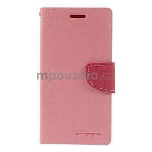 Růžové/rose peněženkové pouzdro na Asus Zenfone 5 - 5