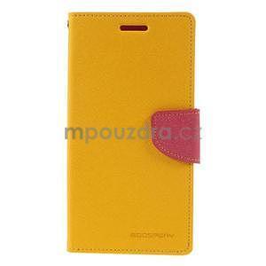Žluté/rose peněženkové pouzdro na Asus Zenfone 5 - 5