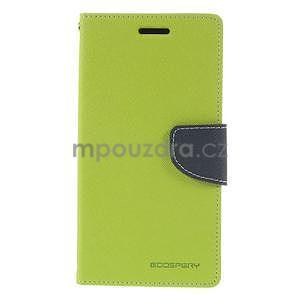 Zelené/tmavě modré peněženkové pouzdro na Asus Zenfone 5 - 5