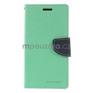 Azurové/tmavě modré peněženkové pouzdro na Asus Zenfone 5 - 5