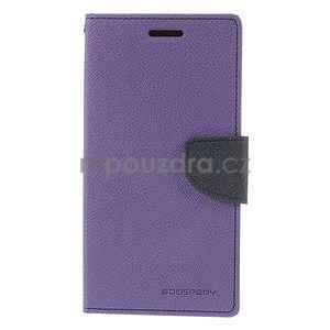Fialové/tmavě modré peněženkové pouzdro na Asus Zenfone 5 - 5