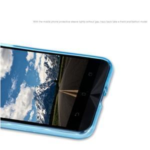 Matný gelový obal na Asus Zenfone Max - modrý - 5