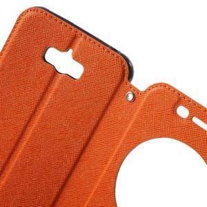 Diary peněženkové pouzdro s okýnkem na Asus Zenfone Max - oranžové - 5