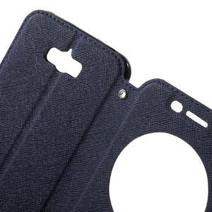 Diary peněženkové pouzdro s okýnkem na Asus Zenfone Max - tmavěmodré - 5
