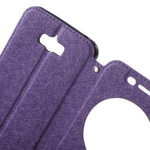 Diary peněženkové pouzdro s okýnkem na Asus Zenfone Max - fialové - 5