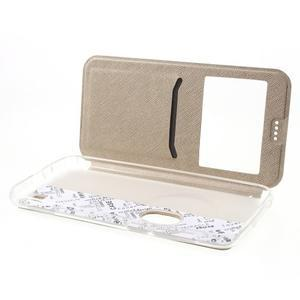 Peněženkové pouzdro s okýnkem na Asus Zenfone Zoom - zlaté - 5