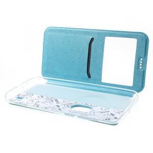 Peněženkové pouzdro s okýnkem na Asus Zenfone Zoom - modré - 5
