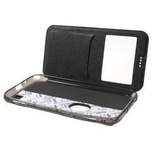 Peněženkové pouzdro s okýnkem na Asus Zenfone Zoom - černé - 5