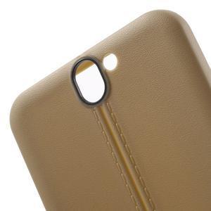 Lines gelové pouzdro na mobil HTC One A9 - champagne - 5