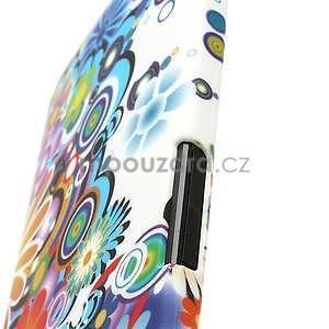 Plastový kryt na HTC One M7 - květy - 5