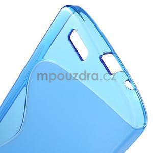 Gelový kryt S-line Huawei Ascend G7 - modrý - 5
