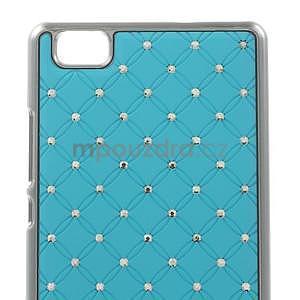 Drahokamový plastový obal na Huawei Ascend P8 Lite - světle modrý - 5