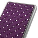 Drahokamový plastový obal na Huawei Ascend P8 Lite - fialový - 5/5